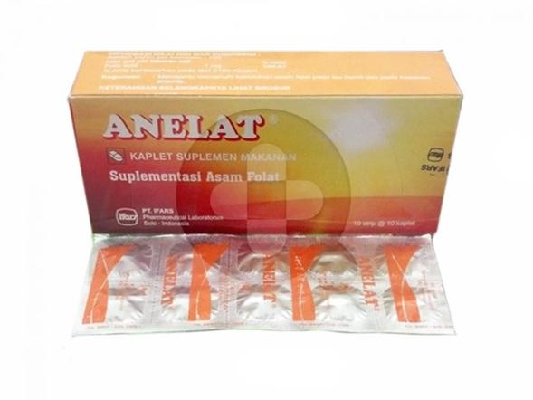 Anelat Kaplet digunakan untuk suplementasi asam folat untuk kondisi ketika jumlah sel darah merah lebih rendah dari jumlah normal (anemia) dan ibu hamil.