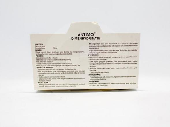 Antimo dapat mengatasi mabuk dan muntah dalam perjalanan