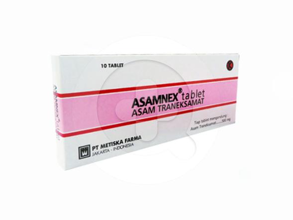 Asamnex tablet adalah obat yang digunakan untuk mengurangi atau menghentikan pendarahan.