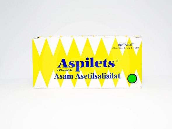 Aspilets tablet adalah obat untuk menurunkan demam, meringankan nyeri, dan mencegah infark miokard