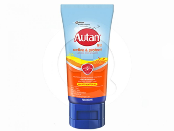 Autan Active & Protect losion anti nyamuk merupakan lotion dengan wangi natural yang digunakan untuk melindungi kulit dari gigitan nyamuk.