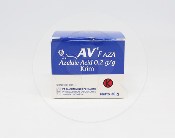 AV F AZA krim adalah obat luar untuk masalah jerawat ringan hingga sedang dengan manfaat antimikroba