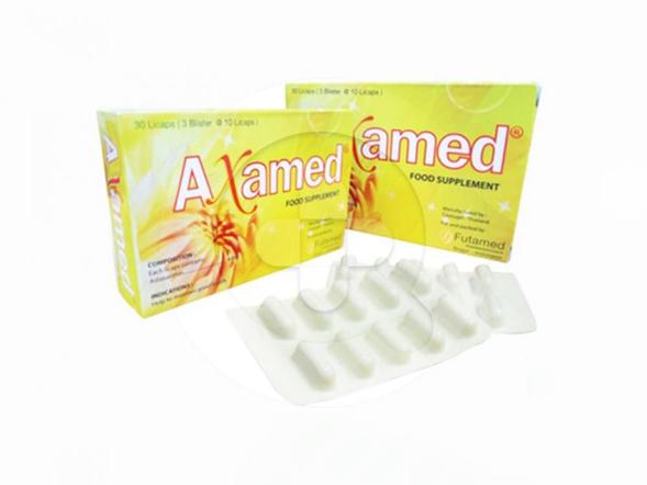 Axamed kapsul digunakan untuk membantu memelihara kesehatan tubuh.