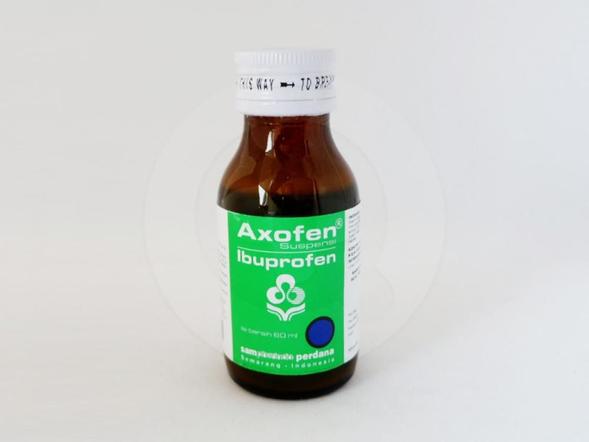Axofen suspensi 60 ml obat yang digunakan untuk menurunkan deman dan meringankan rasa nyeri.