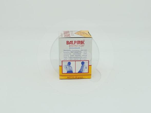 Balpirik Kuning Balsem Gosok Extra Kuat 20g digunakan untuk nyeri otot dan keseleo.