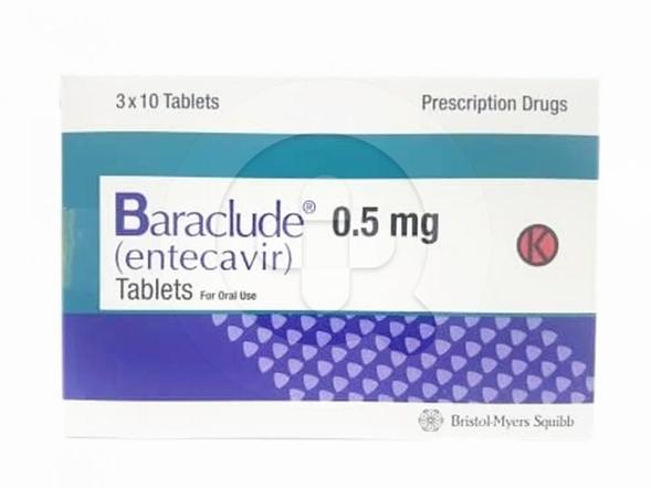 Baraclude tablet digunakan untuk terapi pada infeksi hepatitis B kronik pada pasien dewasa yang mengalami replikasi virus aktif.