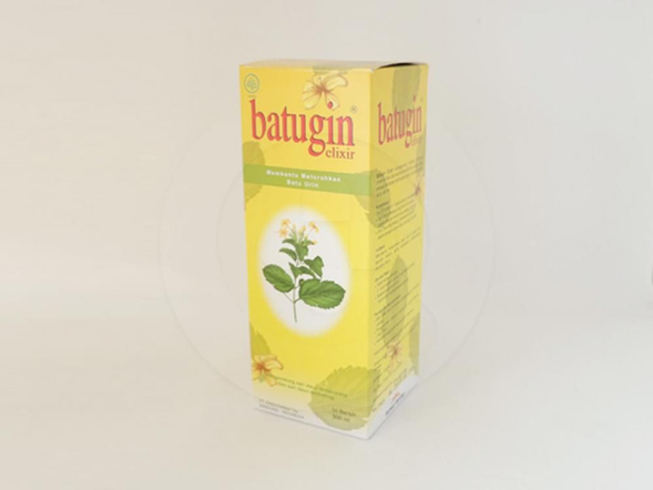Batugin elixir 300 ml untuk membantu meluruhkan batu di ginjal dan saluran kemih, serta membantu melancarkan buang air kecil.