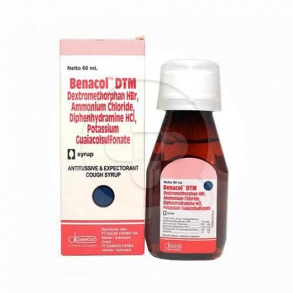 Benacol DTM sirup adalah obat untuk meringankan batuk yang disertai alergi.