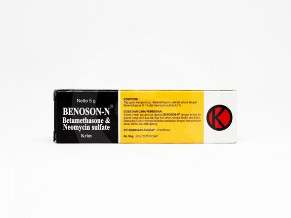 Benoson N digunakan untuk mengatasi peradangan kulit akibat infeksi bakteri