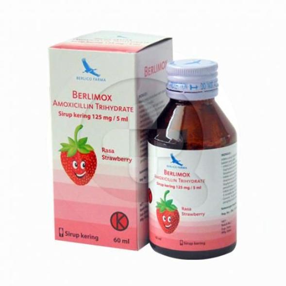 Berlimox sirup kering adalah obat untuk mengatasi infeksi pada kulit dan jaringan lunak, infeksi pernafasan, infeksi saluran cerna dan kencing nanah.