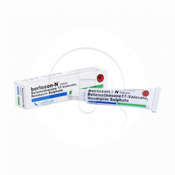 Berloson-N krim digunakan untuk meredakan peradangan pada kulit yang disertai dengan infeksi.
