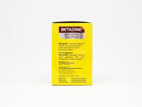 Betadine Solution digunakan sebagai antiseptik untuk luka