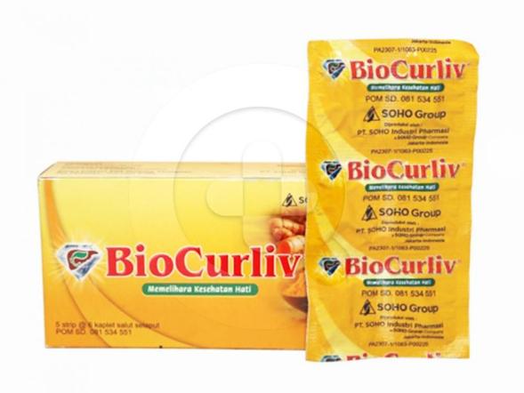 Biocurliv kaplet merupakan suplemen untuk memelihara kesehatan hati.