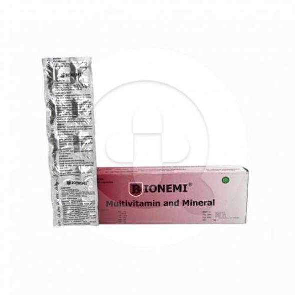 Bionemi kapsul digunakan sebagai suplementasi vitamin dan mineral untuk anemia selama masa kehamilan dan menyusui.