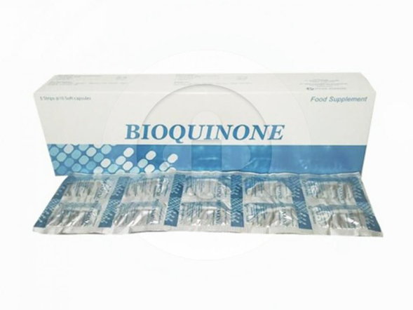 Bioquinone kapsul digunakan sebagai suplemen untuk penambah energi dan antioksidan.