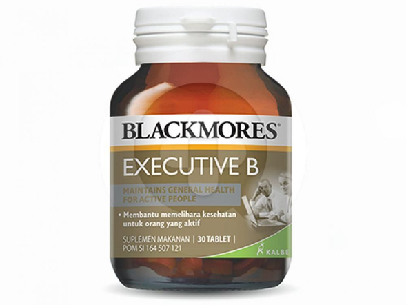 Blackmores Executive B digunakan untuk membantu memelihara kesehatan untuk orang yang aktif.