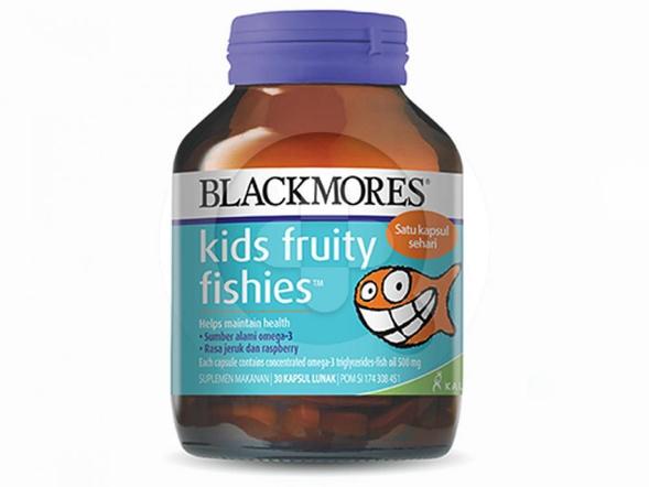 Blackmores Kids Fruity Fishies digunakan untuk membantu memelihara kesehatan anak.
