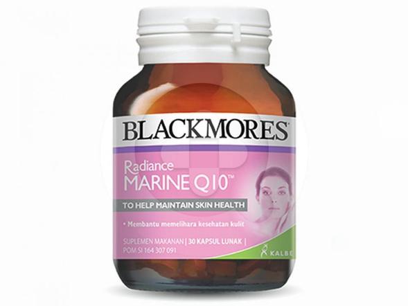 Blackmores Radiance Marine Q10 digunakan untuk membantu memelihara kesehatan kulit.