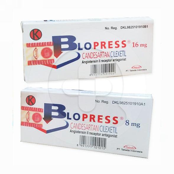 Blopress tablet adalah obat untuk menurunkan tekanan darah tinggi dan mengatasi gagal jantung.