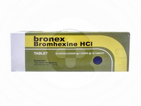 Bronex tablet adalah obat untuk mengatasi batuk berdahak dan mengencerkan dahak (mukolitik).