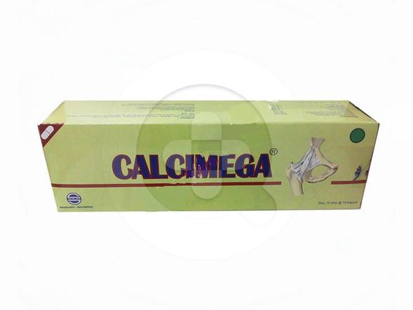 Calcimega kapsul digunakan sebagai suplemen kalsium.