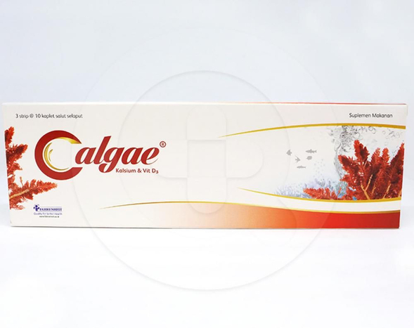 Calgae kaplet adalah suplemen kalsium dan vitamin D yang digunakan selama kehamilan, menyusui dan menopause, serta untuk memelihara kesehatan tulang
