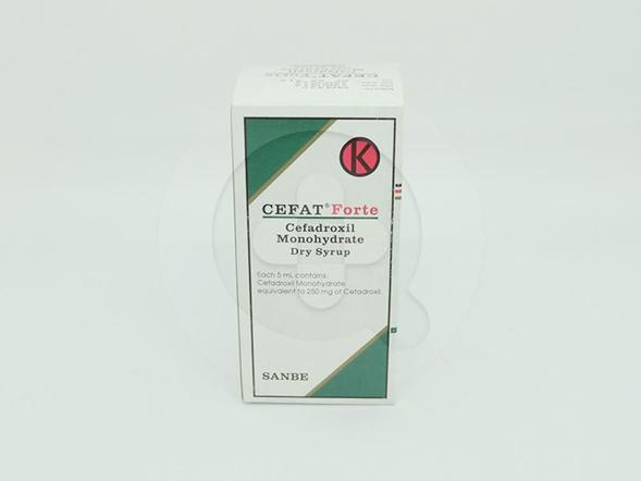 Cefat Forte Sirup Kering 60 ml digunakan untuk pengobatan infeksi yang disebabkan oleh mikroorganisme yang sensitif.