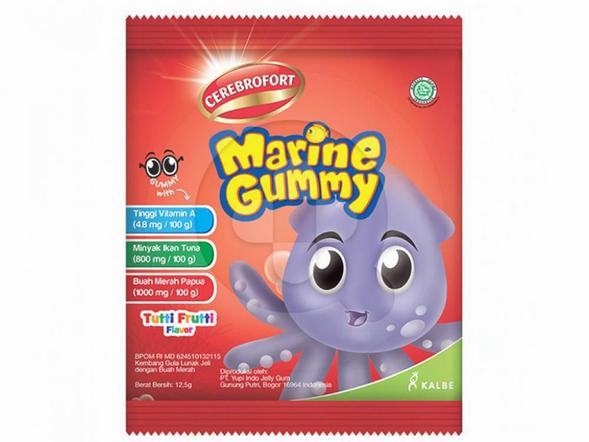 Cerebrofort Marine Gummy for Eye Rasa Tutti Frutti bermanfaat untuk menjaga kesehatan mata anak.