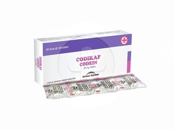 Codikaf tablet adalah obat untuk mengatasi batuk kering dan mengatasi nyeri.