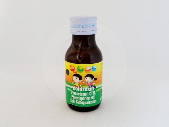 Coldrexin suspensi obat untuk meringankan gejala flu.