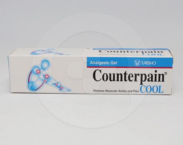 Counterpain Cool gel 15 g untuk meringankan rasa sakit pada otot karena olahraga, keseleo, memar atau nyeri punggung dan akibat peradangan sendi, seperti artritis