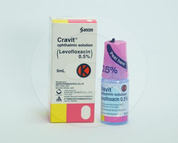 Cravit tetes mata adalah obat yang digunakan untuk mengatasi infeksi.