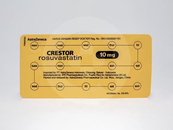 Crestor tablet adalah obat yang digunakan untuk mengurangi kadar kolestrol jahat dalam darah