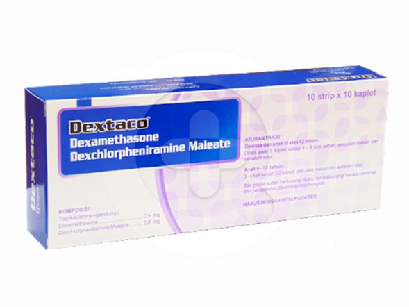 Dextaco kaplet digunakan untuk mengobati alergi.