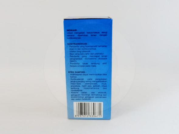 Dextaco sirup 60 ml adalah obat yang digunakan untuk mengatasi kasus-kasus alergi yang memerlukan terapi dengan kortikosteroid.