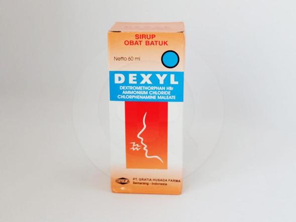 Dexyl sirup 60 ml untuk meredakan batuk kering yang dikarenakan influenza, alergi, infeksi saluran pernapasan.