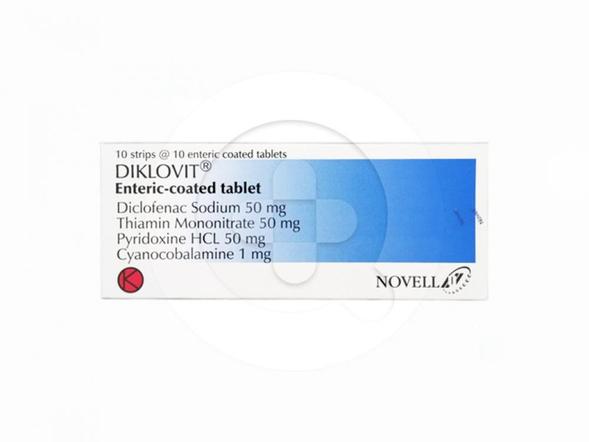 Diklovit tablet adalah obat untuk meringankan nyeri ringgan hingga sedang terutama yang berhubungan dengan peradangan pada saraf (neuritis).