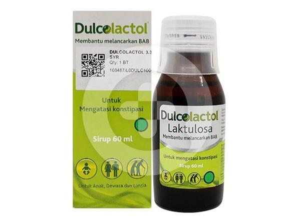Dulcolactol sirup 60 ml untuk pengobatan sembelit, pada pasien dengan sembelit kronis, untuk ensefalopati portal-sistemik, termasuk keadaan pre-koma hepatik dan koma hepatik
