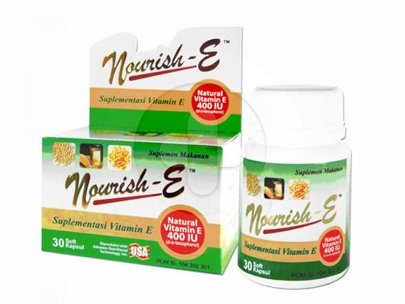 E-400 kapsul suplemen untuk menjaga kesehatan kulit dan sebagai antioksidan.