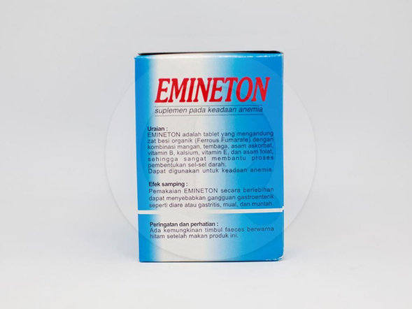 Emineton tablet adalah suplemen yang digunakan untuk pembentukan sel darah