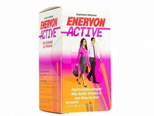 Enervon-C Active tablet merupakan suplemen untuk memenuhi kebutuhan vitamin C, B kompleks, dan zink.