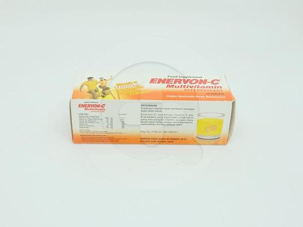 Enervon-C Tablet Effervescent Rasa Jeruk digunakan untuk membantu menjaga daya tahan tubuh.