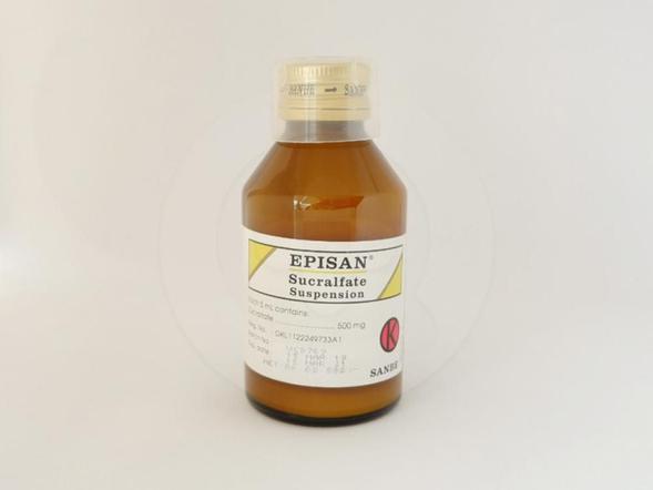 Episan suspensi adalah obat untuk pengobatan jangka pendek (sampai 8 minggu) pada luka dinding usus 12 jari (tukak duodenum).