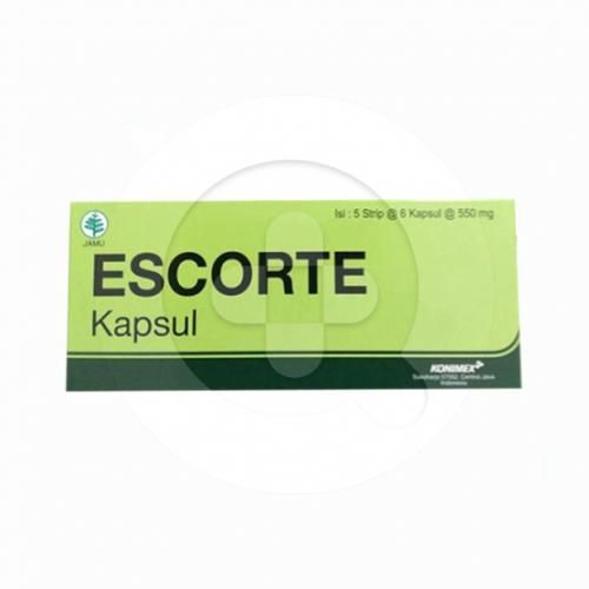 Escorte kapsul merupakan suplemen untuk menurunkan berat badan.