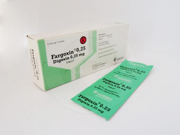 Fargoxin tablet 0,25 mg adalah obat yang digunakan untuk pengobatan gagal jantung dan aritmia.