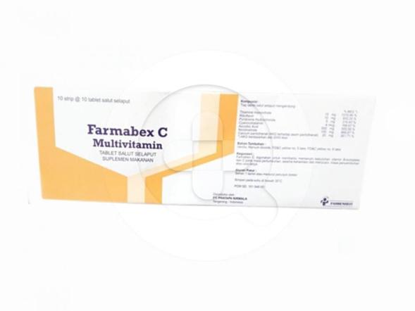 Farmabex C tablet digunakan untuk mengatasi kekurangan vitamin B dan vitamin C.