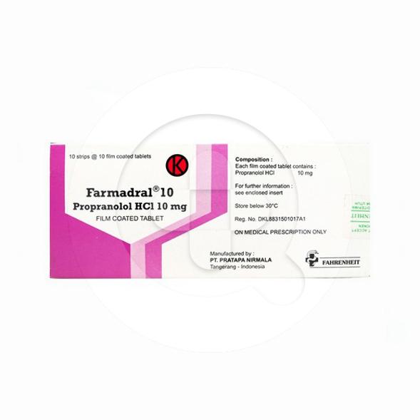 Farmadral tablet adalah obat untuk mengobati tekanan darah tinggi dan mengatasi nyeri dada.