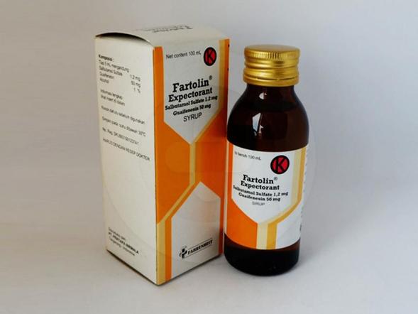 Fartolin ekspektoran sirup 100 ml  adalah obat yang digunakan sebagai bronkodilator dan ekspektoran pada asma bronkial, bronkitis kronis, emfisema dengan dahak di saluran pernapasan.
