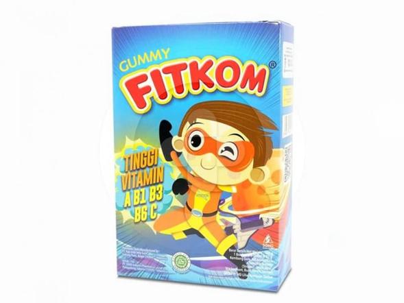 Fitkom Gummy Multivitamin merupakan permen gula lunak yang digunakan sebagai multivitamin anak.