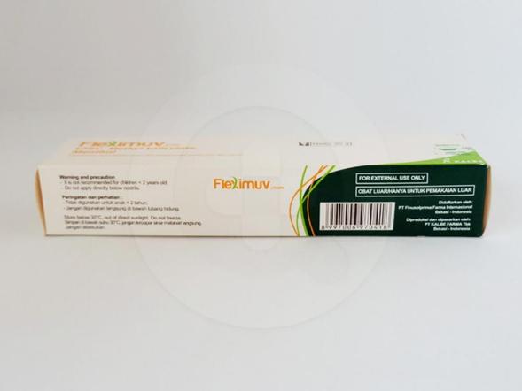 Fleximuv krim 30 g obat untuk membantu meredakan nyeri dan pegal-pegal pada otot dan sendi.